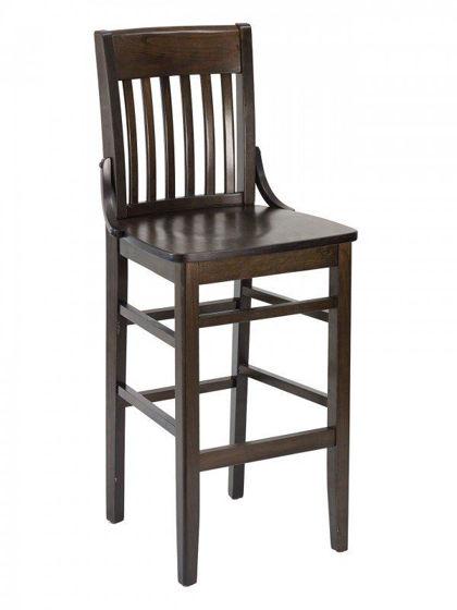 Picture of FLS-02B-NV FLAT BACK florida seating wood bar stool