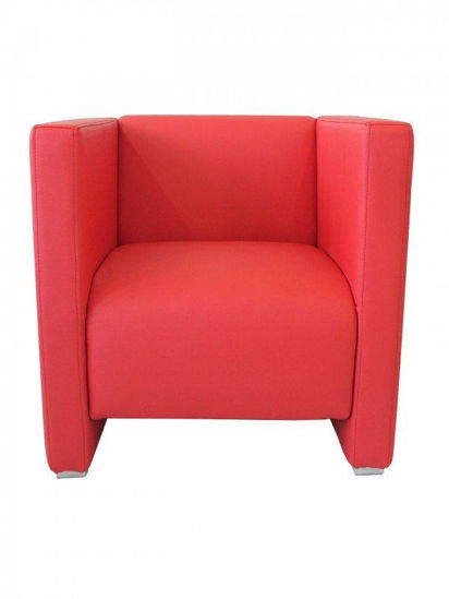 Picture of ZURICH ARMCHAIR – RED florida seating wood dining restaurant chair