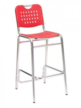 Picture of BAL-03 florida seating aluminum dining restaurant bar stool