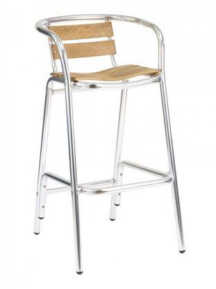 Picture of BAL-53 florida seating aluminum dining restaurant bar stool