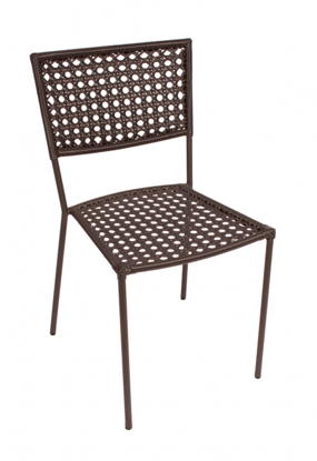 Picture of DV601A Chianti Side Chair Anthracite Frame Blk Wicker