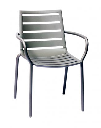 Picture of DV350TS South Beach Aluminum Arm Chair Titanium Silver