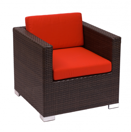 Picture of PH5102JV Aruba 1-Seat With Arms Sofa Java Wicker