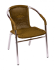 Picture of MS21CTN Madrid Arm Chair Wicker Anodized Aluminum
