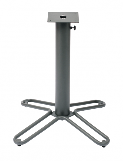 "Picture of DVTB3232AU Fabia Base For 36"" Top Anthracite Powder Coat (Umbrella Is Held By Table Base Column)"