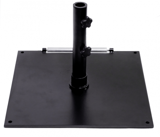 "Picture of UB75SQBL 75 pound umbrella base, 24"" square black steel base.  For stand-alone umbrellas."