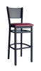 Picture of 2161BBLV-SB Polk Barstool Perforated Back Vinyl Seat