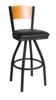 Picture of 2150SCHW-CHSB Dale Swivel Barstool Wood Back Wood Seat