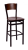 Picture of 2150BCHW-CHSB Dale Barstool Wood Back Wood Seat