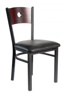 Picture of 2152CBLV-CHSB Darby Circle Back Chair Vinyl Seat