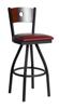Picture of 2152SBLV-CHSB Darby Swivel Barstool Vinyl Seat