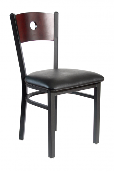 Picture of 2152CCHW-CHSB Darby Chair Circle Back Wood Seat
