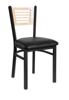 Picture of 2151CBLV-CHSB Espy Chair Slot Back Vinyl Seat
