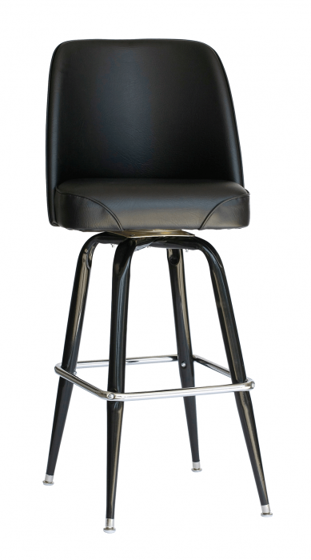 Picture of RBSFBKT-BLV Exton Black Square Bucket Barstool Vinyl Seat