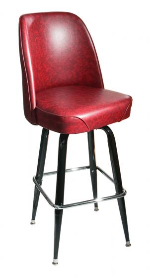 Picture of RBSFBKT-WIN Wine Exton Square Bucket Barstool Vinyl Seat