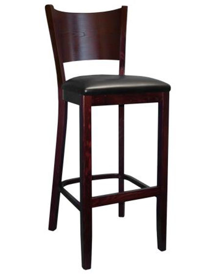Picture of ERP-B1081-BS Beechwood Curve Plain Back Barstool