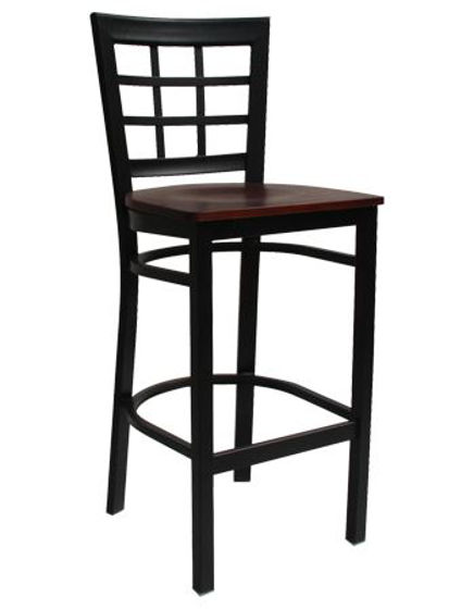 Picture of ERP-133-BS Window Back Metal Barstool