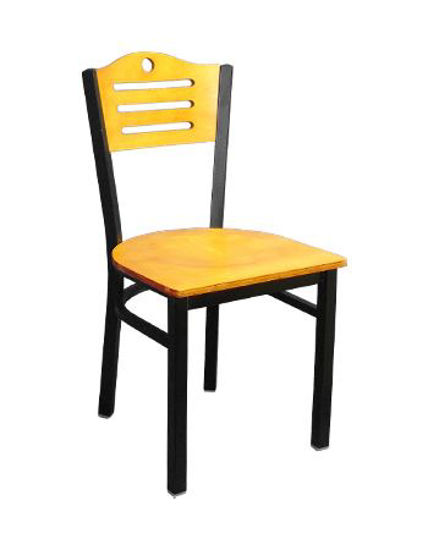 Picture of ERP-161 3 Slats with Circle Metal Chair