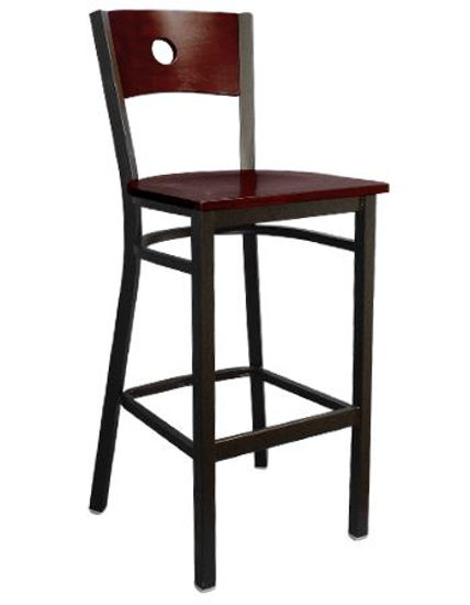 Picture of ERP-163-BS Circle Back Metal Barstool