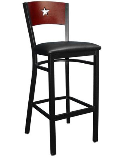 Picture of ERP-160-BS Star Back Metal Barstool