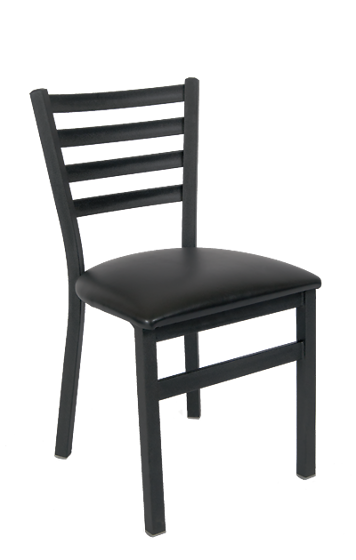 Picture of ERP-128 Black Ladder Back Metal Chair