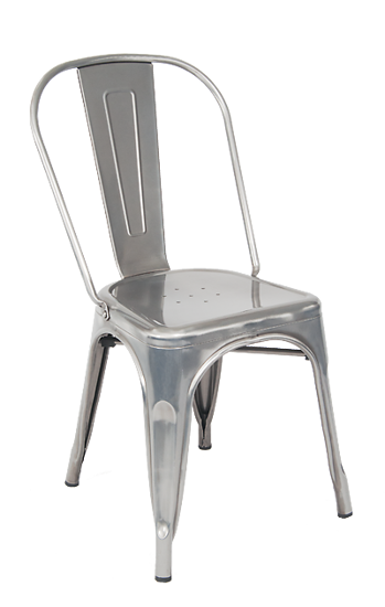 Picture of ERP-11C Clear Coat Tolix Style Metal Chair