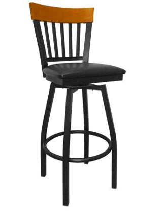 Picture of ERP-139-BSS Swivel Vertical Slat Back Metal Barstool