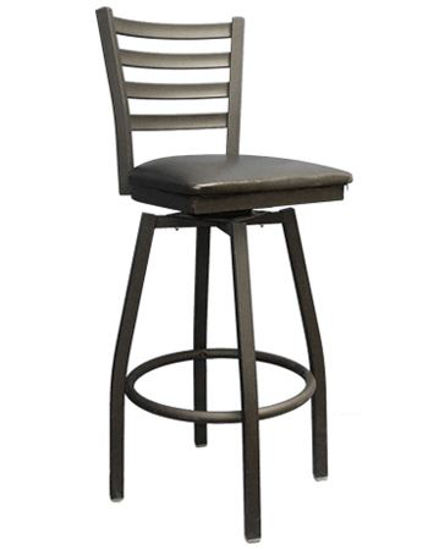 Picture of ERP-135-BSS Swivel Ladder Back Metal Barstool