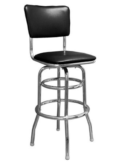 Picture of ERP-200-5 Swivel Chrome Metal Barstool
