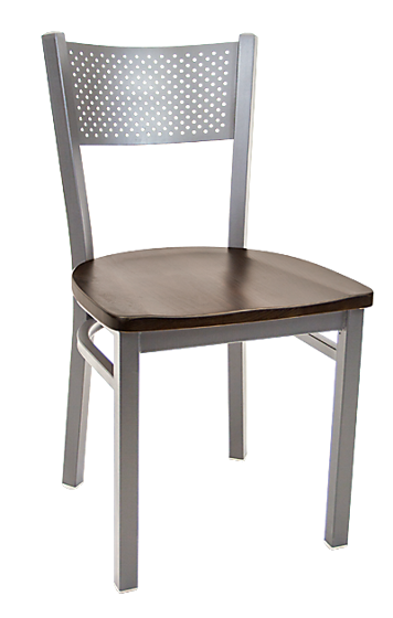 Picture of ERP-141G Grey Finish Perforated Back Metal Chair