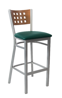 Picture of ERP-191-BS Grey Finish Lattice Back Metal Barstool