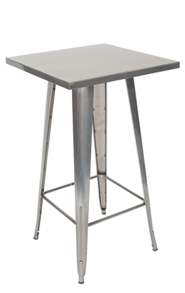 Picture of M2424-BAR Steel Bar Height Table in Clear/Black Finish