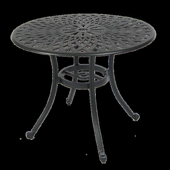"""Picture of ALB36 36"""" Round Aluminum Table i Antique Bronze Finish"""