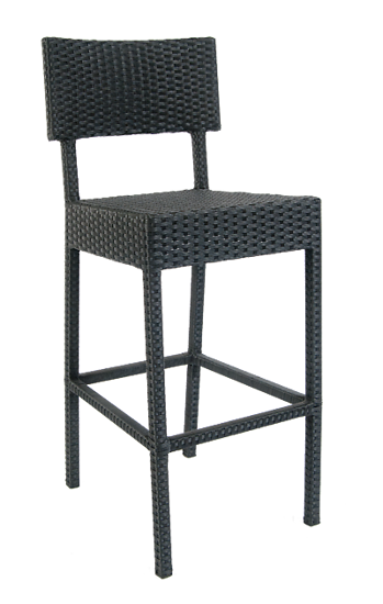 Picture of ERP-22-BS Aluminum Synthetic Wicker Barstool