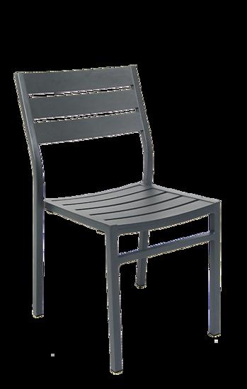 Picture of ERP-80 Aluminum Chair in Dark Grey Finish