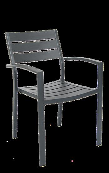 Picture of ERP-81 Aluminum Armchair in Dark Grey Finish