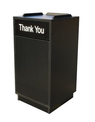 Picture of TR-BLK Trash Receptacle, Black