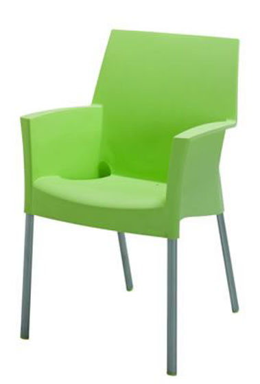 Picture of MJ-513G Mingja Plastic Arm Chair