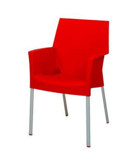 Picture of MJ-513R Mingja Plastic Arm Chair