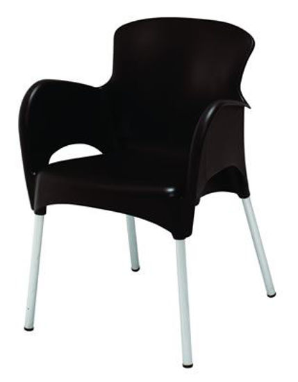 Picture of MJ-514W Mingja Plastic Arm Chair