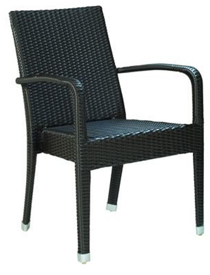 Picture of MJ-595 Mingja Upscale Aluminum Arm Chair with PVC wicker