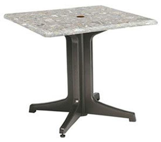 "Picture of 32"" SQUARE Table Top w/ Umbrella Hole"