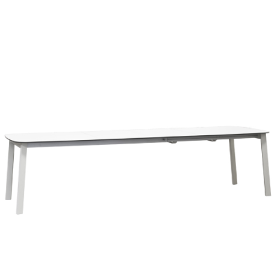 "Picture of EMU SHINE HPL 71""+22""+22"" x 40"" DINING TABLE 23 A/ WHITE"